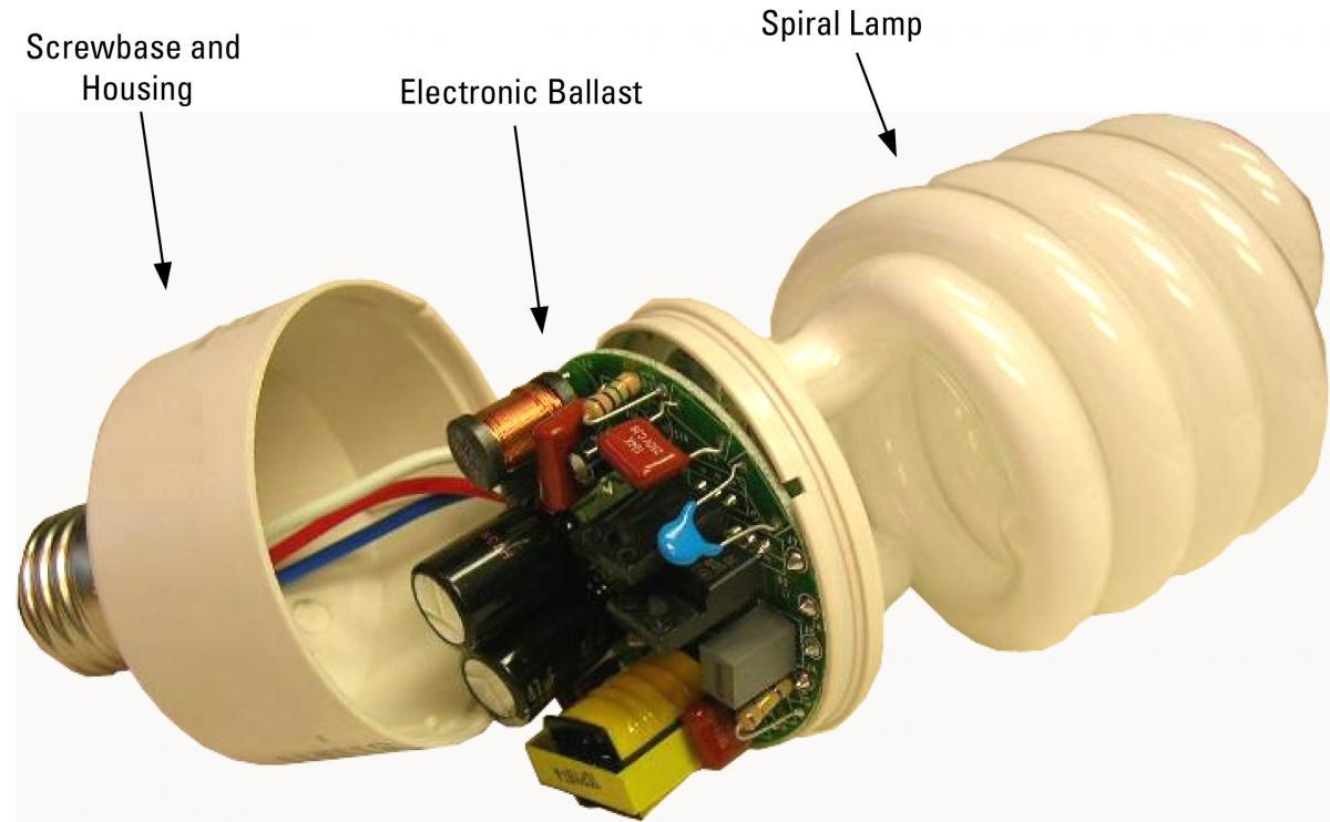 آموزش تعمير لامپ كم مصرف - پروژه ها